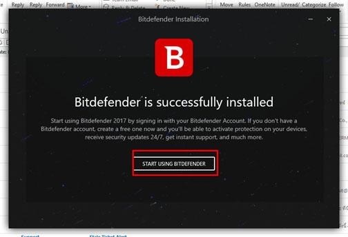 ขั้นตอนการติดตั้ง Bitdefender 2017 ผ่านทางแผ่น DVD