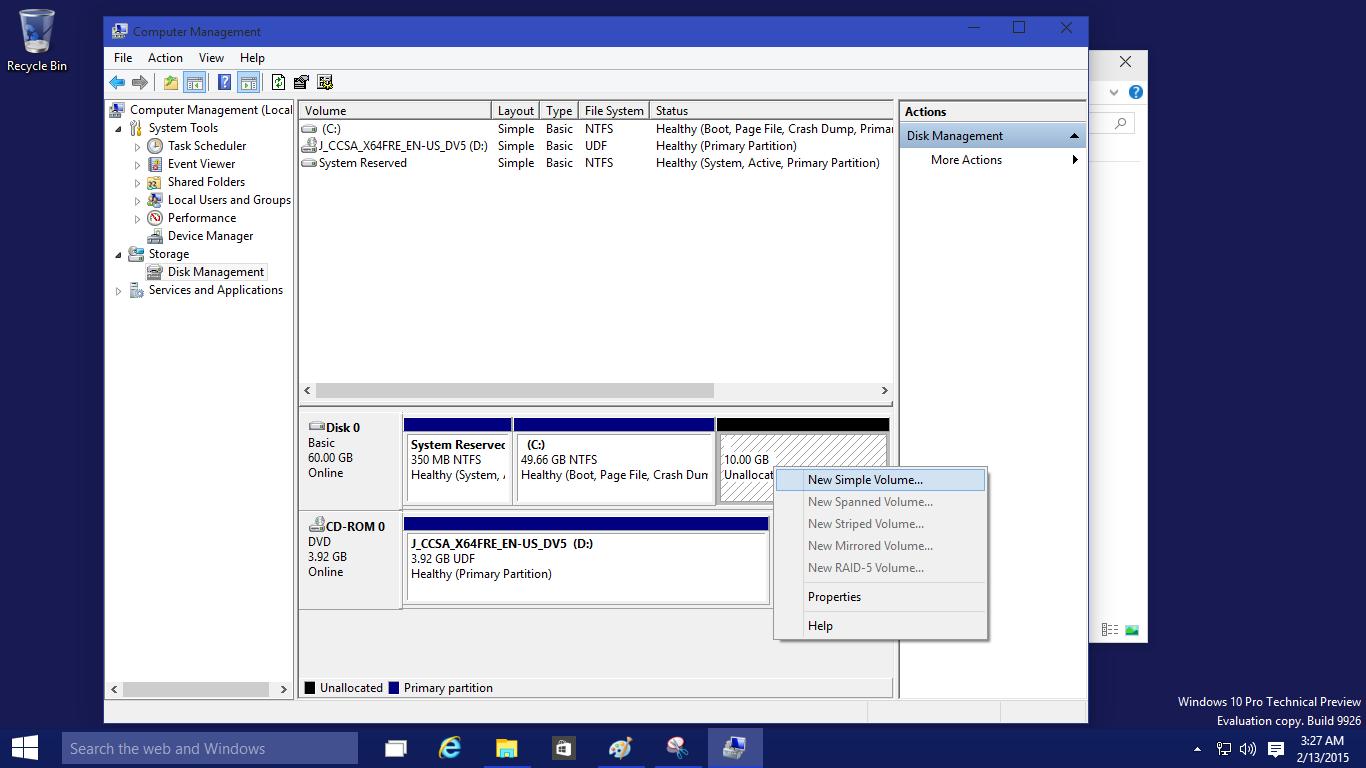 การแบ่งพาติชั่น Partition ของ Windows 10 - สุดยอดวิธี