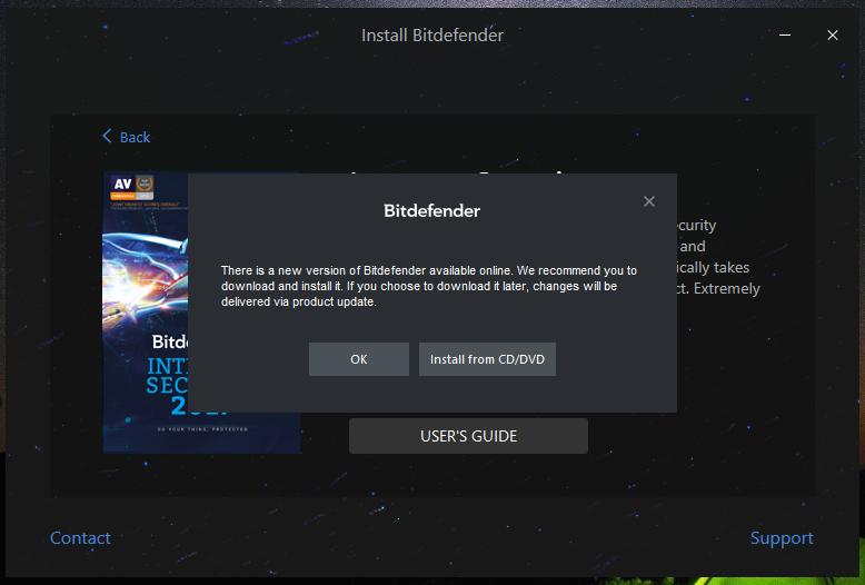 วิธีการติดตั้ง Bitdefender แบบ Home Use จากแผ่น DVD