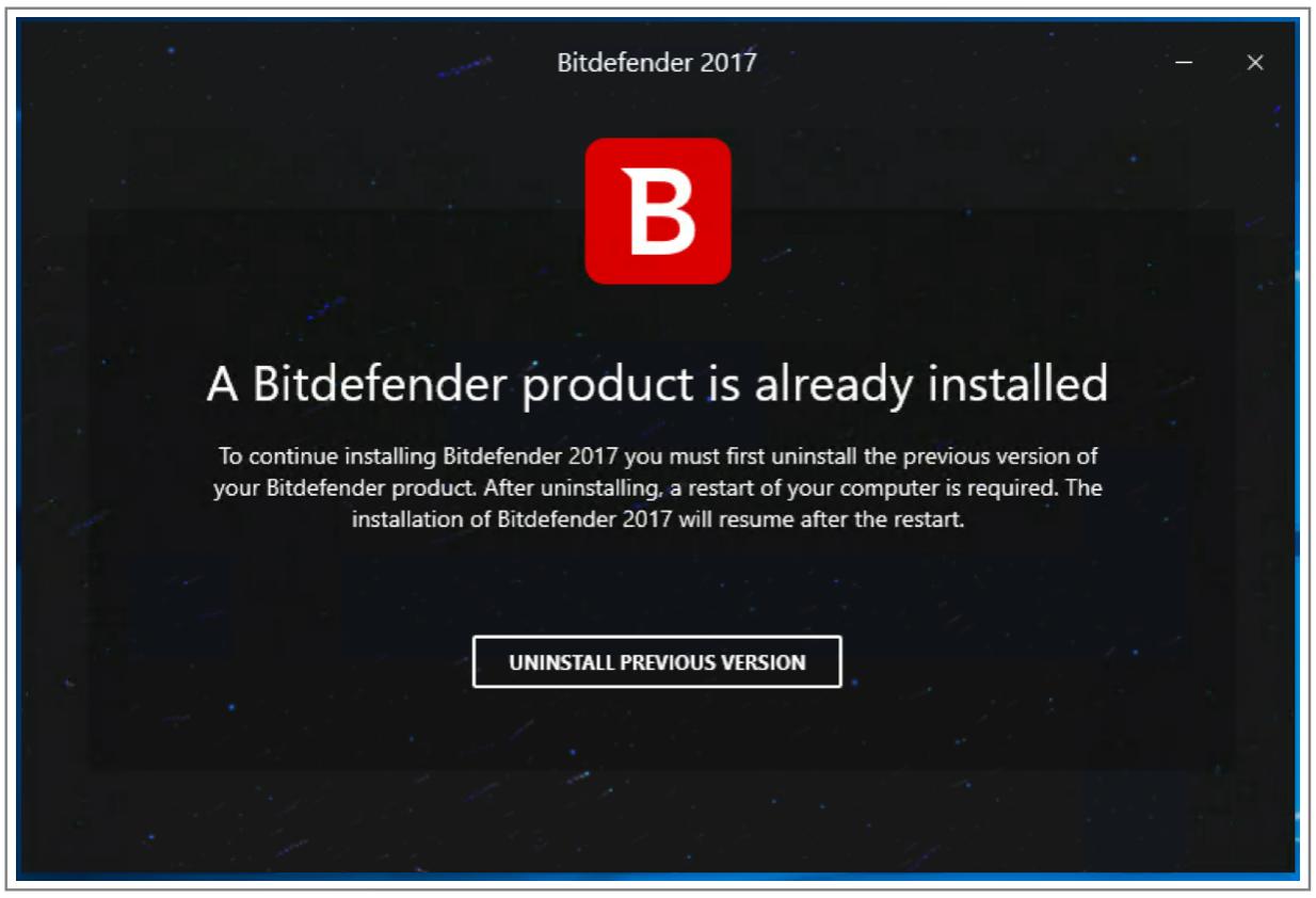 การอัพเกรดเป็น Bitdefender 2017 ในคอมพิวเตอร์ของฉัน