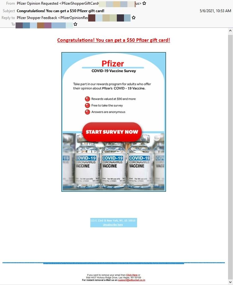 Pfizer scam