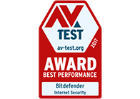 AVTest  - best performance award for Bitdefender